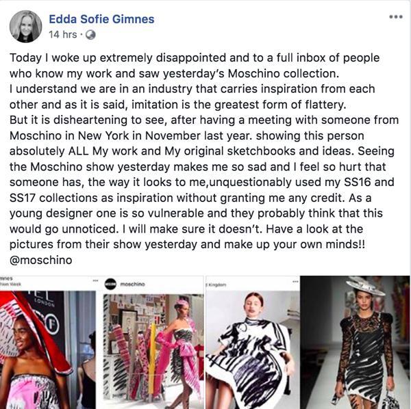 Ra mắt trong mùa Milan Fashion Week, BTS mới của Moschino dính nghi án đạo nhái-1