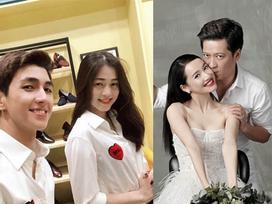 Đầu tuần Bình An - Phương Nga, cuối tuần Trường Giang - Nhã Phương: Hai cặp đôi thay nhau chiếm sóng showbiz Việt