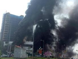 Cháy dữ dội ở trung tâm thương mại cao nhất TP Yên Bái