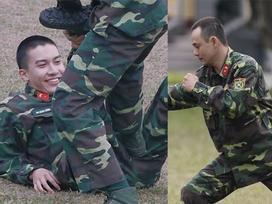 'Cười lộn ruột' xem Dũng Bino và Ưng Đại Vệ huấn luyện võ thuật trong quân ngũ