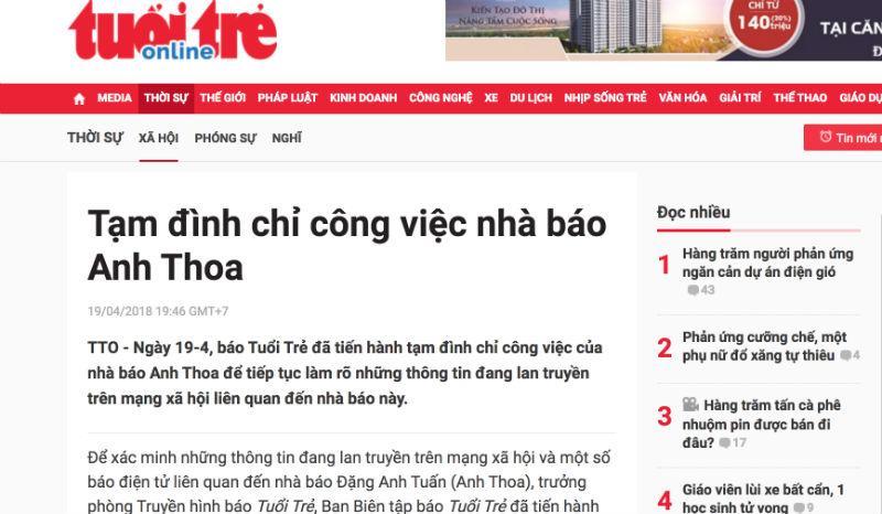 Công an kết luận vụ nhà báo Anh Thoa bị tố xâm hại tình dục-1