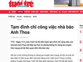 Công an kết luận vụ nhà báo Anh Thoa bị tố xâm hại tình dục