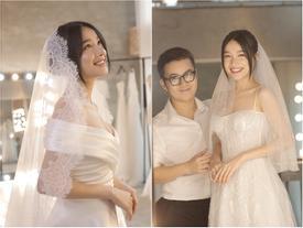 Cận cảnh 2 mẫu váy cưới giúp nhan sắc Nhã Phương 'thoát tục' trong ngày làm cô dâu của Trường Giang