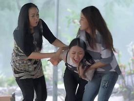 'Gạo nếp gạo tẻ' tập 61: Ác nữ giật chồng bị đánh sấp mặt vì tội 'chơi xong rồi đá'