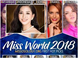 Không có tên Trần Tiểu Vy trong dự đoán top 15 nhan sắc có cơ hội chạm vương miện Hoa hậu Thế giới 2018