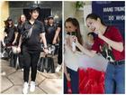 SAO LÀM TỪ THIỆN: Diệp Lâm Anh bầu 8 tháng vẫn tay xách nách mang, trong khi Chi Pu hát nhảy nhiệt tình hết nấc