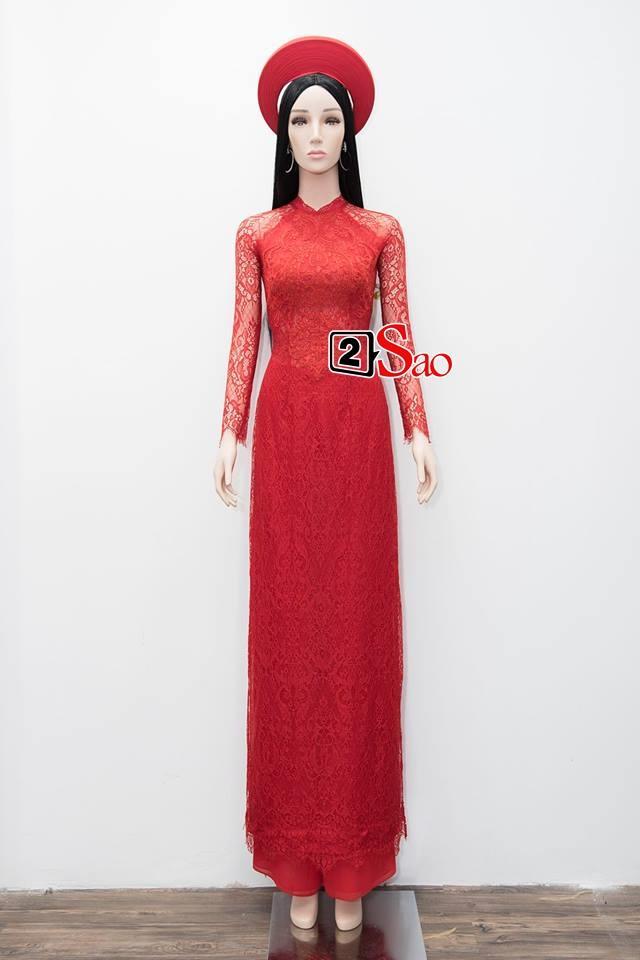 Cận cảnh bộ áo dài đỏ khác biệt của Nhã Phương trong lễ ăn hỏi tràn ngập màu trắng-1