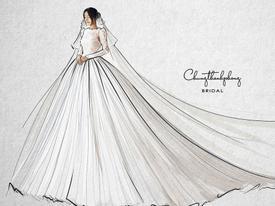 Choáng ngợp mẫu váy cưới hoành tráng nhất Nhã Phương sẽ mặc khi chính thức thành vợ Trường Giang tối nay
