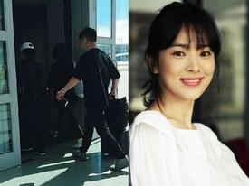 Song Hye Kyo bịt kín mít, bất ngờ xuất hiện tại sân bay
