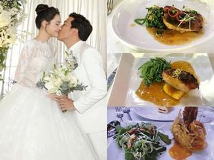 Thực đơn tiệc cưới sang trọng trái ngược hoàn toàn đám hỏi của Trường Giang và Nhã Phương