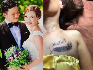 Xăm tên chồng trẻ lên ngực để khẳng định tình yêu, cô dâu 61 tuổi khiến chú rể 26 không vui