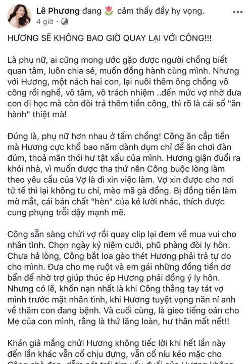 Tiết lộ kết phim Gạo nếp gạo tẻ, Lê Phương khẳng định: Hương không bao giờ quay lại với Công-2