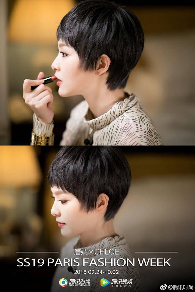 Vừa rộ tin chuẩn bị kết hôn, Đường Yên đã xuất hiện gây shock với tóc tém ngắn-3
