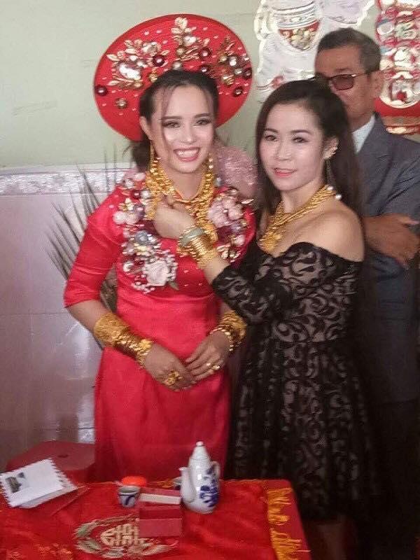 Cô dâu Kiên Giang được trao 129 cây vàng trong ngày cưới-1