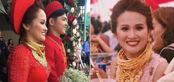 Cô dâu Kiên Giang được trao 129 cây vàng trong ngày cưới-7