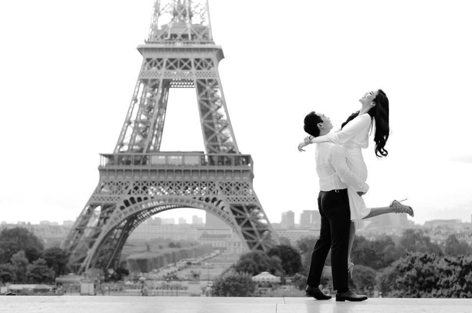 4 ngày trước đám cưới, doanh nhân Tuấn John khoe ảnh tình bể bình với Lan Khuê tại Paris-2
