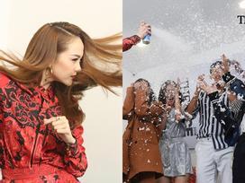 Hết hồn xem Minh Hằng ăn mừng 'hổng giống ai' tại The Face: Nổi nhạc nhảy tưng bừng, phụt tuyết kín mặt thí sinh