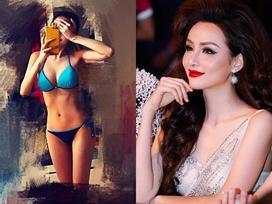 Diễm Hương phô diễn hình thể với bikini mặc nghi vấn 'đập mặt xây lại'