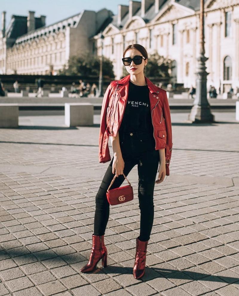 Thúy Vi tự tin phô trương eo thon ngực khủng - Hòa Minzy khoe street style chất lừ ở Paris-5