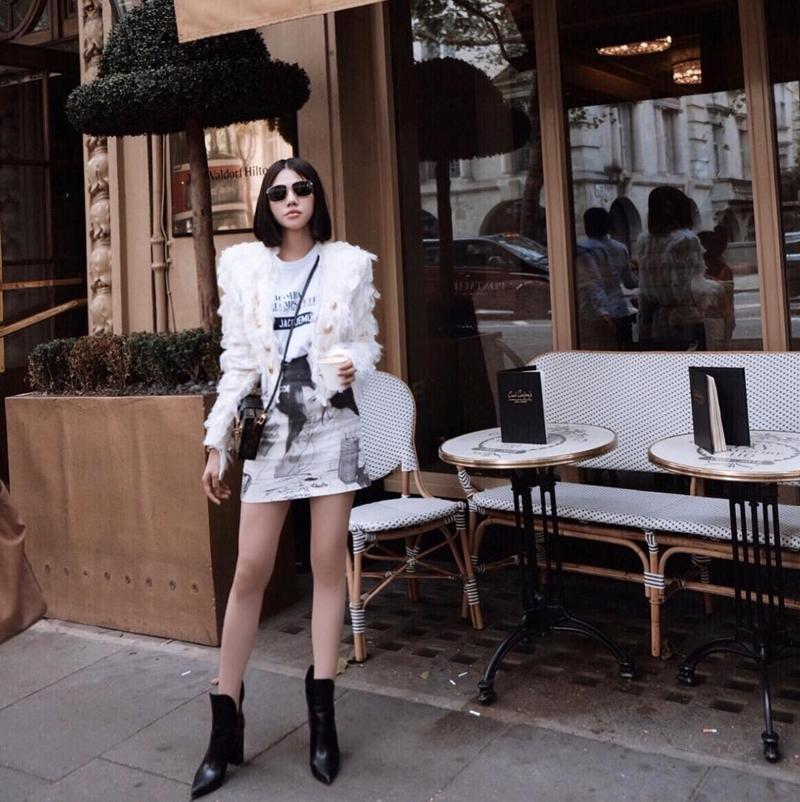 Thúy Vi tự tin phô trương eo thon ngực khủng - Hòa Minzy khoe street style chất lừ ở Paris-7