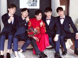 Dàn mỹ nam Hoa ngữ làm phù rể: Người make-up đẹp trai ngời ngời, người mặc váy sẵn sàng 'quẩy banh nóc'