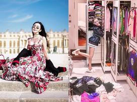 Choáng ngợp với tủ đồ triệu đô của 'Nữ hoàng Instagram' Singapore