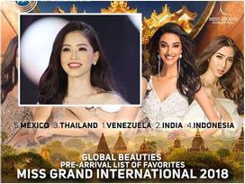 Sát giờ lên đường, Á hậu Bùi Phương Nga bất ngờ lọt top 25 mỹ nhân sáng giá nhất Miss Grand 2018