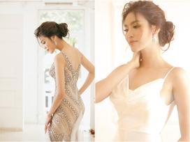 Váy cưới Lan Khuê mặc để chào khách được làm trong hai tháng