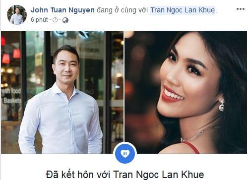 Đúng ngày cưới, ông xã Lan Khuê vội vã đánh dấu chủ quyền #dakethon trên Facebook cá nhân-1