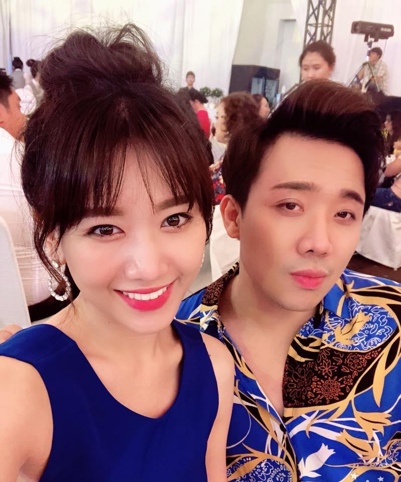 Trấn Thành uất nói không nên lời khi chứng kiến Hari Won bị đổ nước trong lúc đang dự tiệc-2