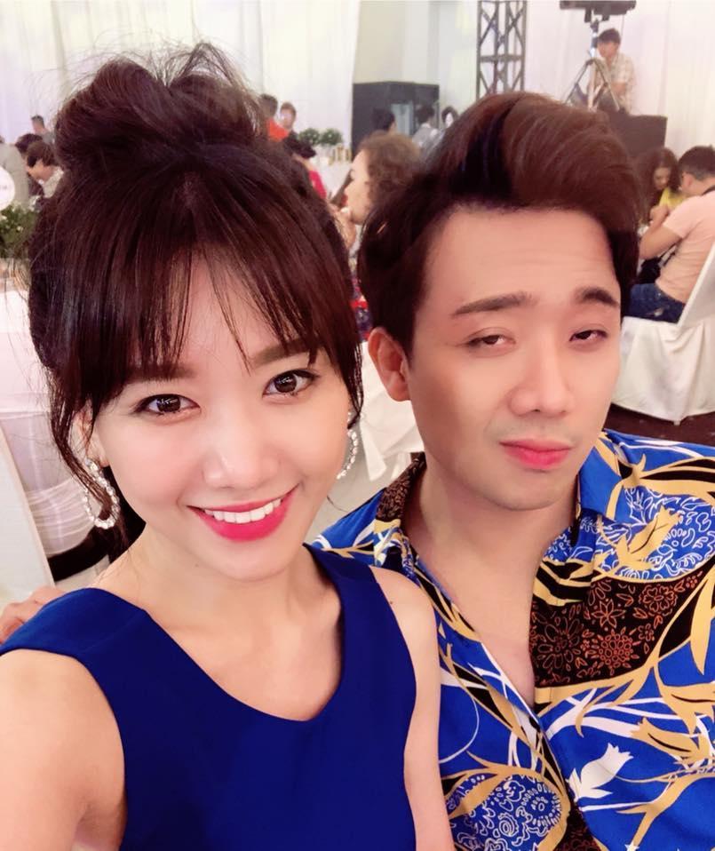 Trấn Thành uất nói không nên lời khi chứng kiến Hari Won bị đổ nước trong lúc đang dự tiệc-3