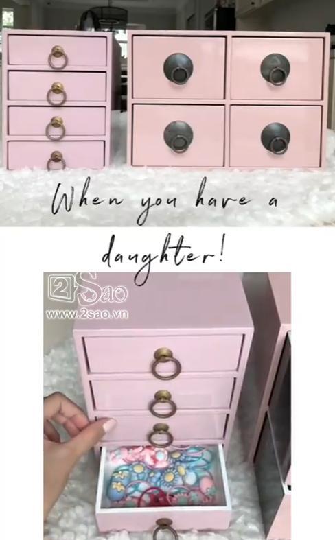Tiểu công chúa vừa tròn 1 tuổi, Tăng Thanh Hà làm điệu cho con bằng tủ phụ kiện nhiều không đếm xuể-5