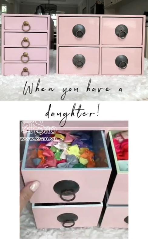 Tiểu công chúa vừa tròn 1 tuổi, Tăng Thanh Hà làm điệu cho con bằng tủ phụ kiện nhiều không đếm xuể-6