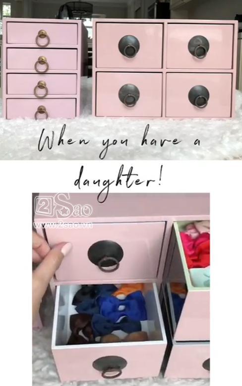 Tiểu công chúa vừa tròn 1 tuổi, Tăng Thanh Hà làm điệu cho con bằng tủ phụ kiện nhiều không đếm xuể-7