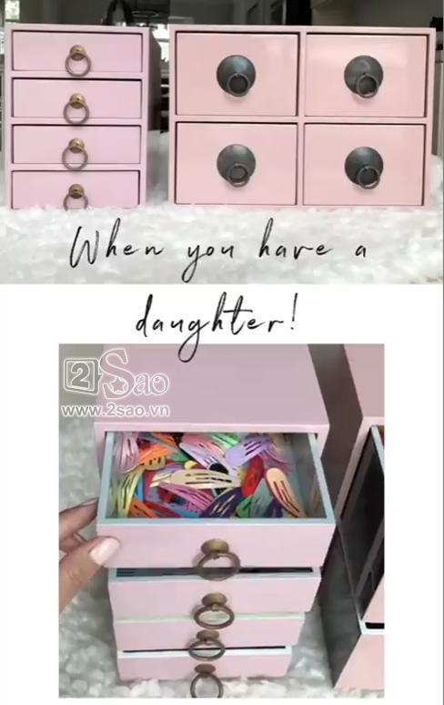 Tiểu công chúa vừa tròn 1 tuổi, Tăng Thanh Hà làm điệu cho con bằng tủ phụ kiện nhiều không đếm xuể-2