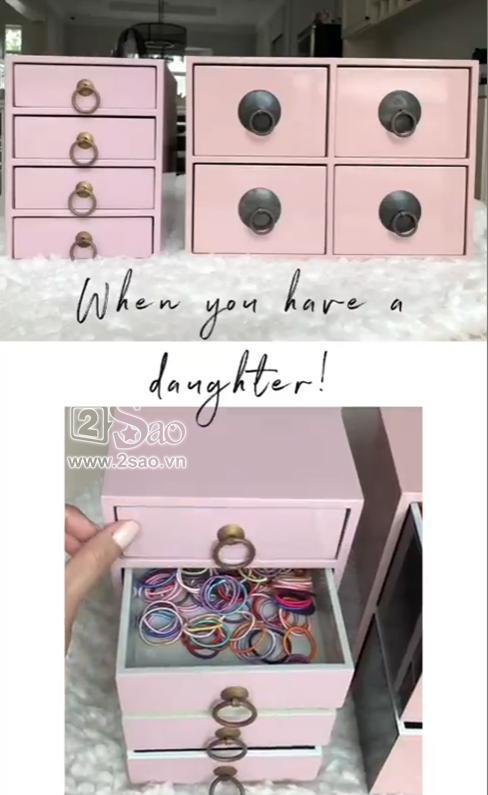 Tiểu công chúa vừa tròn 1 tuổi, Tăng Thanh Hà làm điệu cho con bằng tủ phụ kiện nhiều không đếm xuể-3