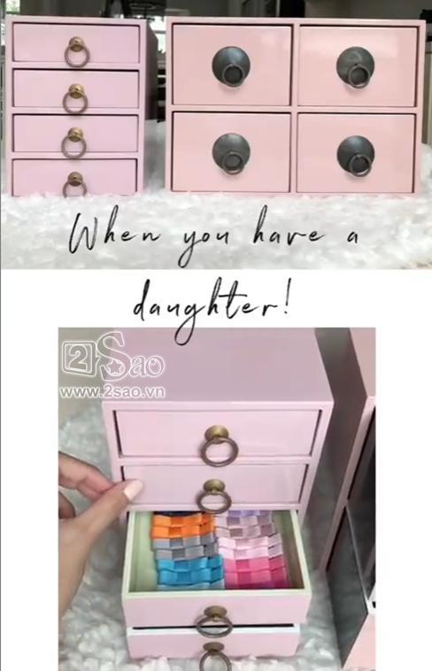 Tiểu công chúa vừa tròn 1 tuổi, Tăng Thanh Hà làm điệu cho con bằng tủ phụ kiện nhiều không đếm xuể-4