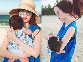 Dù giấu mặt, con gái Đặng Thu Thảo vẫn được nhận xét giống 'cụ thân sinh' ở mái tóc xoăn tự nhiên đáng yêu