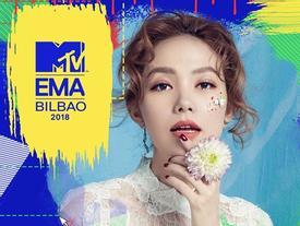 Minh Hằng đại diện Việt Nam tại giải thưởng âm nhạc hàng đầu thế giới MTV EMA 2018