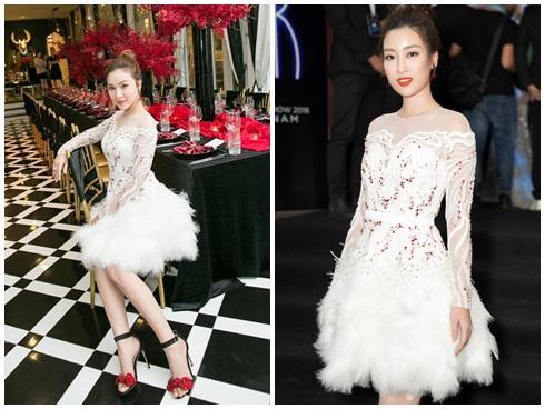 Cùng chặt chém trong mẫu váy thiên nga, Đỗ Mỹ Linh vượt mặt Quỳnh Thư nhờ layout trang điểm tươi tắn-6