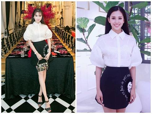 Cùng chặt chém trong mẫu váy thiên nga, Đỗ Mỹ Linh vượt mặt Quỳnh Thư nhờ layout trang điểm tươi tắn-7