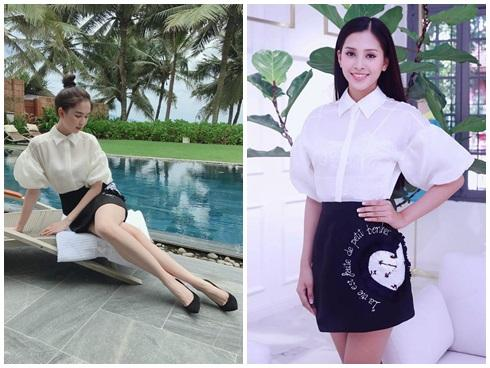 Cùng chặt chém trong mẫu váy thiên nga, Đỗ Mỹ Linh vượt mặt Quỳnh Thư nhờ layout trang điểm tươi tắn-8