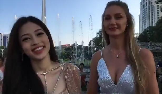 Không chỉ nói tiếng Anh lưu loát, Á hậu Bùi Phương Nga còn tạo dáng xuất thần tại Miss Grand 2018-5