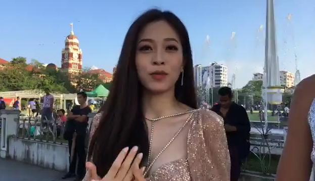Không chỉ nói tiếng Anh lưu loát, Á hậu Bùi Phương Nga còn tạo dáng xuất thần tại Miss Grand 2018-3