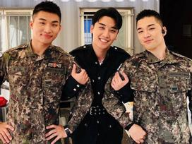 Bộ ba Big Bang Seungri, Taeyang, Daesung hội ngộ trong quân đội