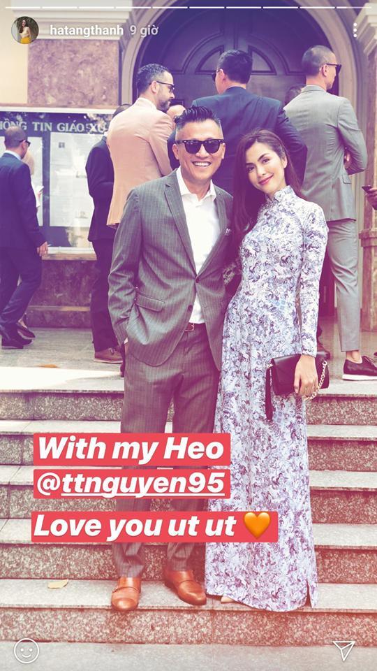 Chỉ mặc áo dài đi dự đám cưới bạn thân, Tăng Thanh Hà trông cũng rất quý tộc, thần thái hút mắt nhìn - ảnh 1