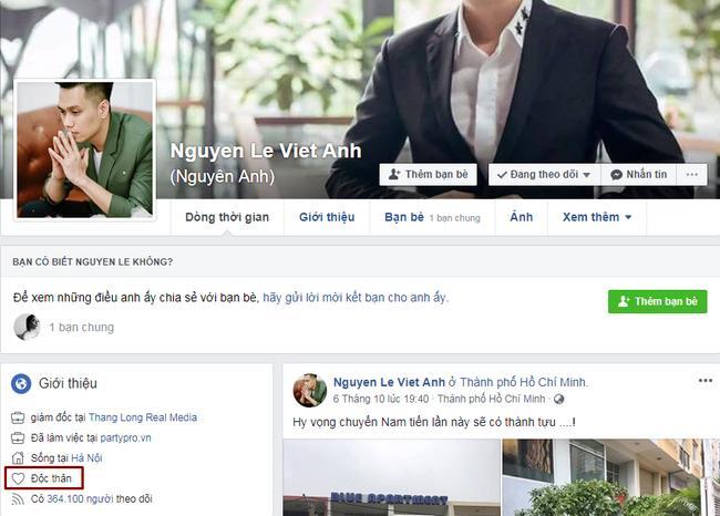 Bỗng nhiên cùng để chế độ độc thân trên Facebook, vợ chồng diễn viên Việt Anh bị nghi rạn nứt-3