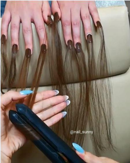 Gắn tóc cho móng tay - xu hướng làm đẹp kinh dị khiến nhiều người lạnh gáy - ảnh 1