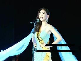 Không chỉ giới thiệu đầy khí chất, Bùi Phương Nga còn tung váy xuất thần tại Miss Grand International 2018