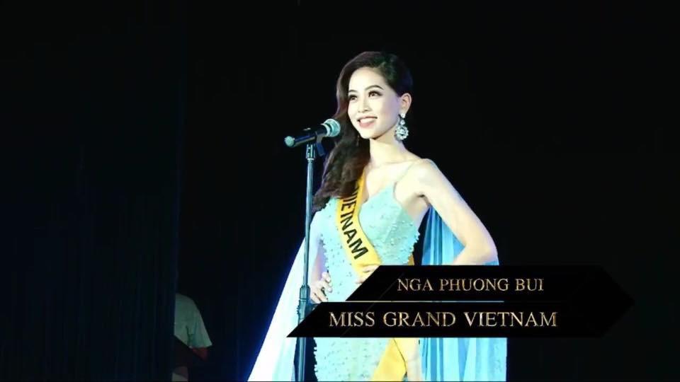 Không chỉ giới thiệu đầy khí chất, Bùi Phương Nga còn tung váy xuất thần tại Miss Grand International 2018-3